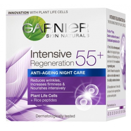 Gr. Skin Naturals ANTI-AGING 55+ naktinis kr. 50ml