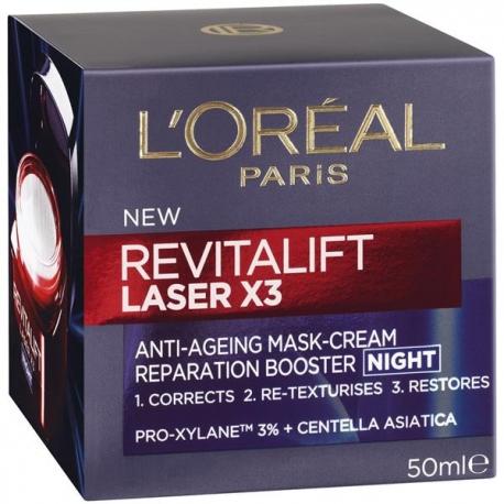 L'Oreal D/E REVITALIFT LASER naktinis veido kremas 50ml